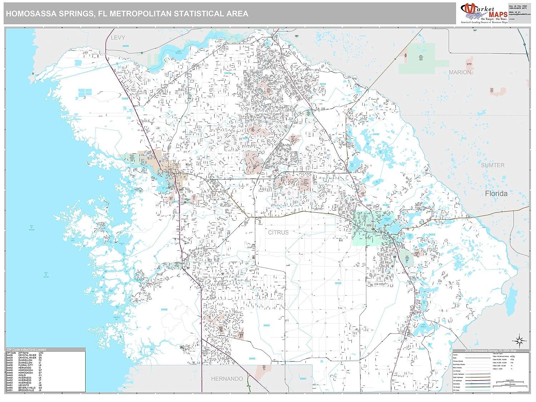 Homosassa Florida Map.Amazon Com Marketmaps Homosassa Springs Fl Metro Area Wall Map