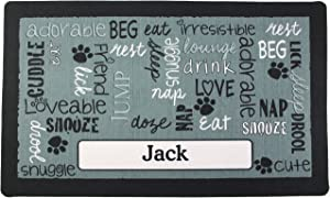 Drymate Pet Placemat Personalized, Dog Food Mat, Cat Food Mat, Pet Food Mat - Absorbent/Waterproof - Machine Washable, Durable, (USA Made)
