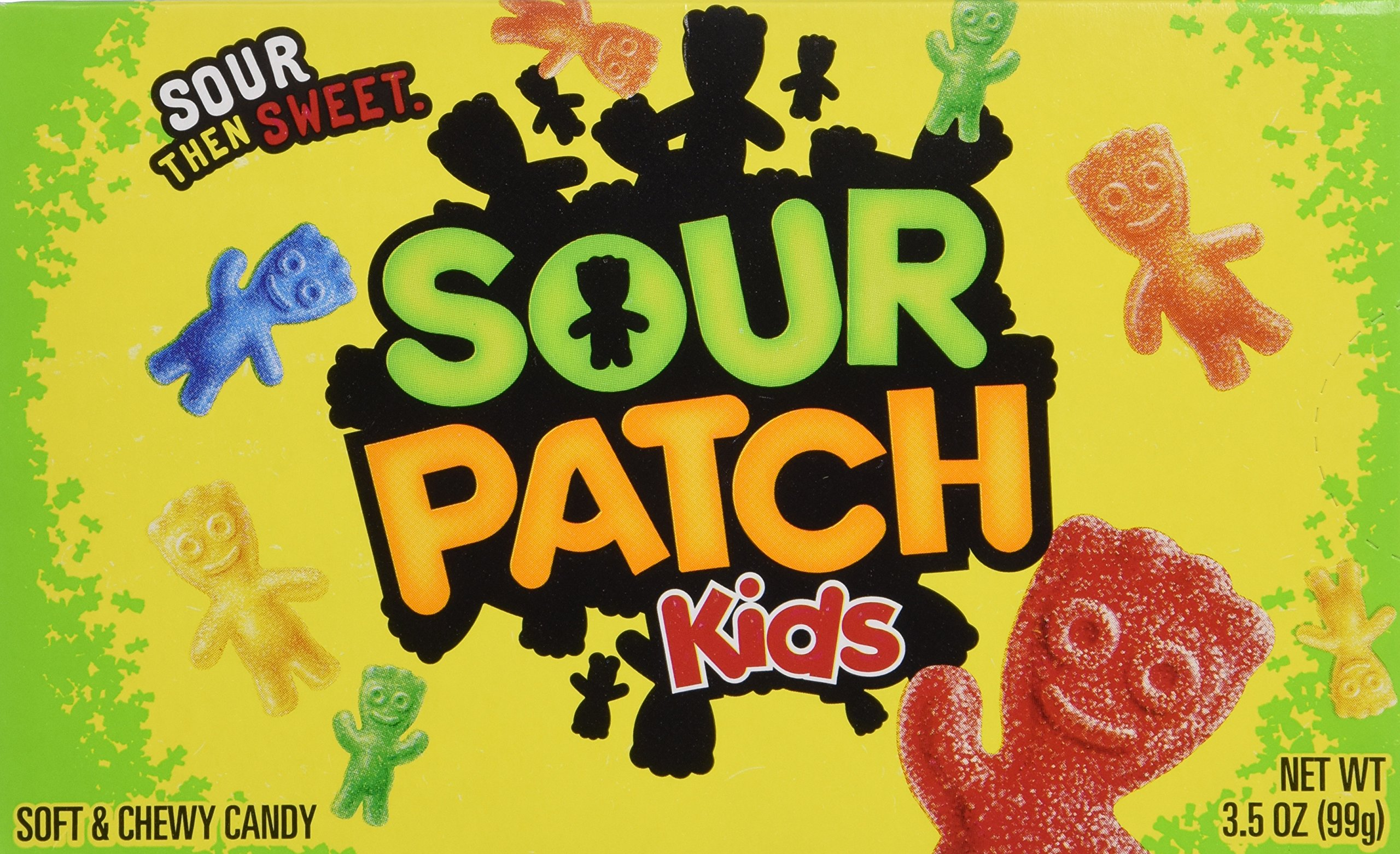 """Sour Patch Kids """"Now Including Blue"""" Soft & Chewy Candy Net Wt 3.5 Oz (99g) - 3 Pack"""
