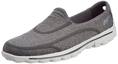 0e9980fe0e4ab Skechers Gowalk 2 Super Sock Women's Walking Shoes - Grey (Charcoal), 3 UK