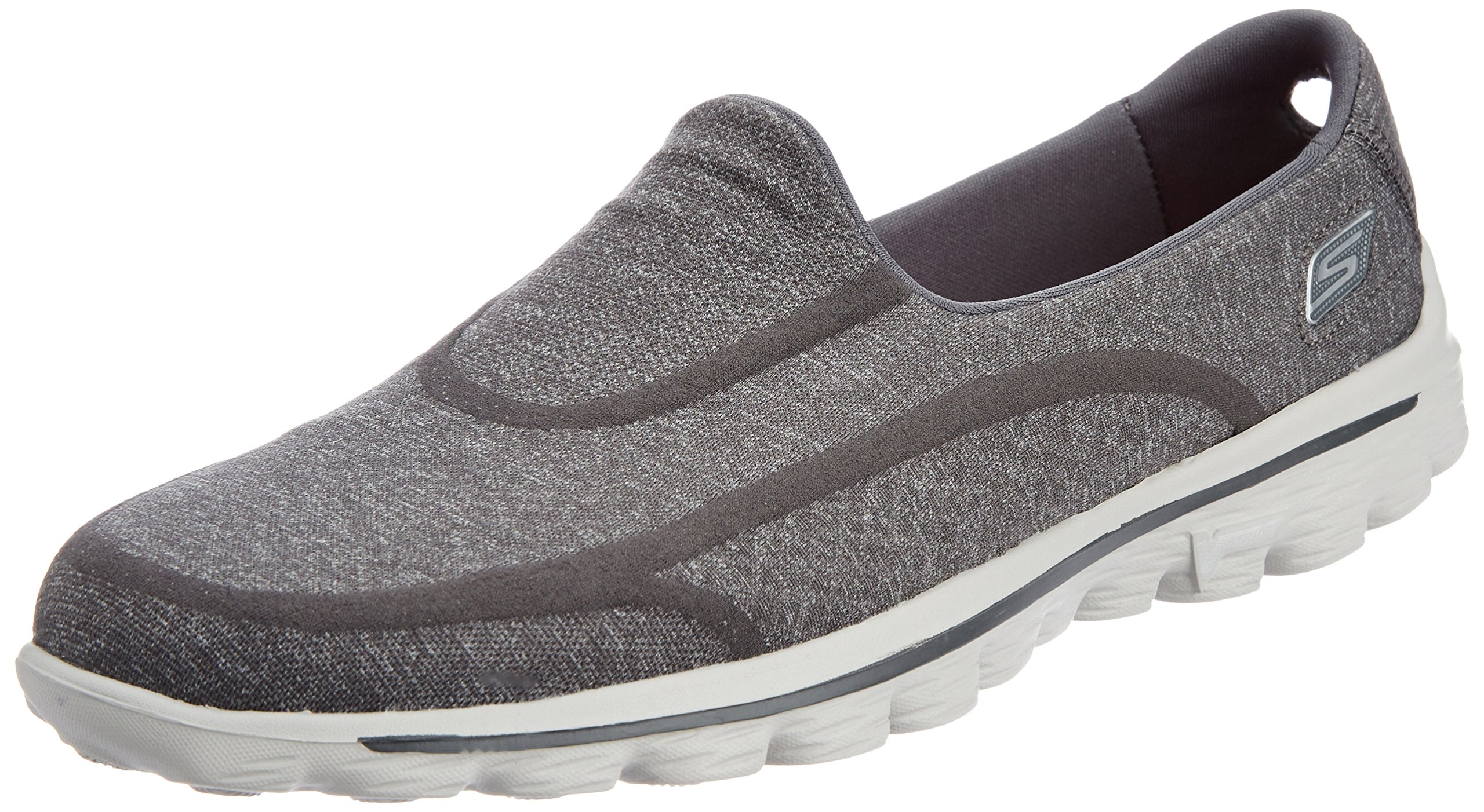 Skechers Performance Women's Go Walk 2 Super Sock Slip-On Walking Shoe,Old Charcoal,7.5 M US