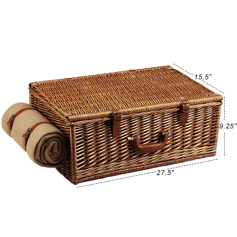Amazon.com: Picnic en Ascot Dorset english-style cesta de ...