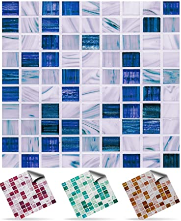 Tile Style Decals | Modell (30xTP 12   6in  Sea Blue) | Mosaik