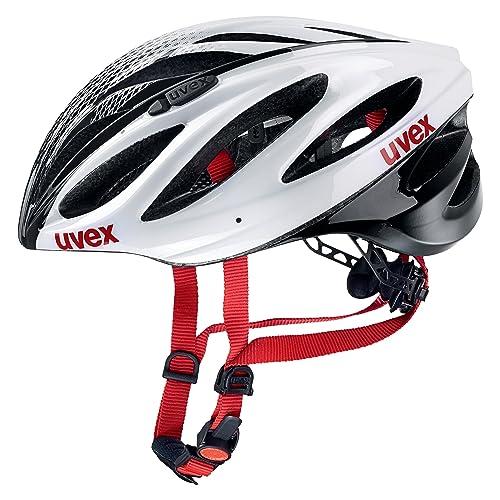 Uvex Boss Race Casco de Ciclismo, Unisex Adulto, Blanco/Negro, 55-
