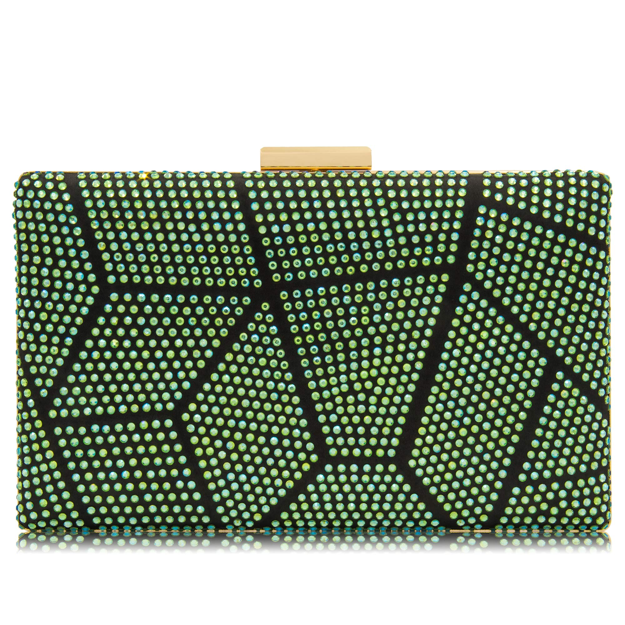 Women Clutches Crystal Evening Bags Clutch Purse Party Wedding Handbags (AB Green)