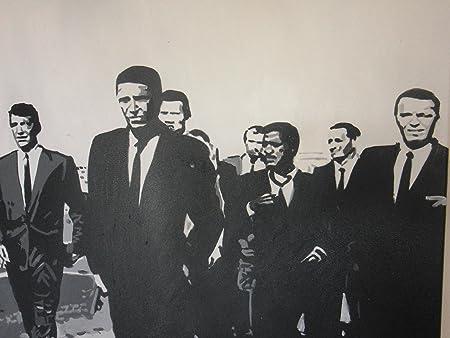 Rat Pack Sinatra Sammy Davis Jr Dean Martin de pintura al óleo 20 x 20, con marco, pero lienzo está disponible por separado, nosotros detalles. Cualquier tamaño disponible, nosotros.: Amazon.es: Hogar