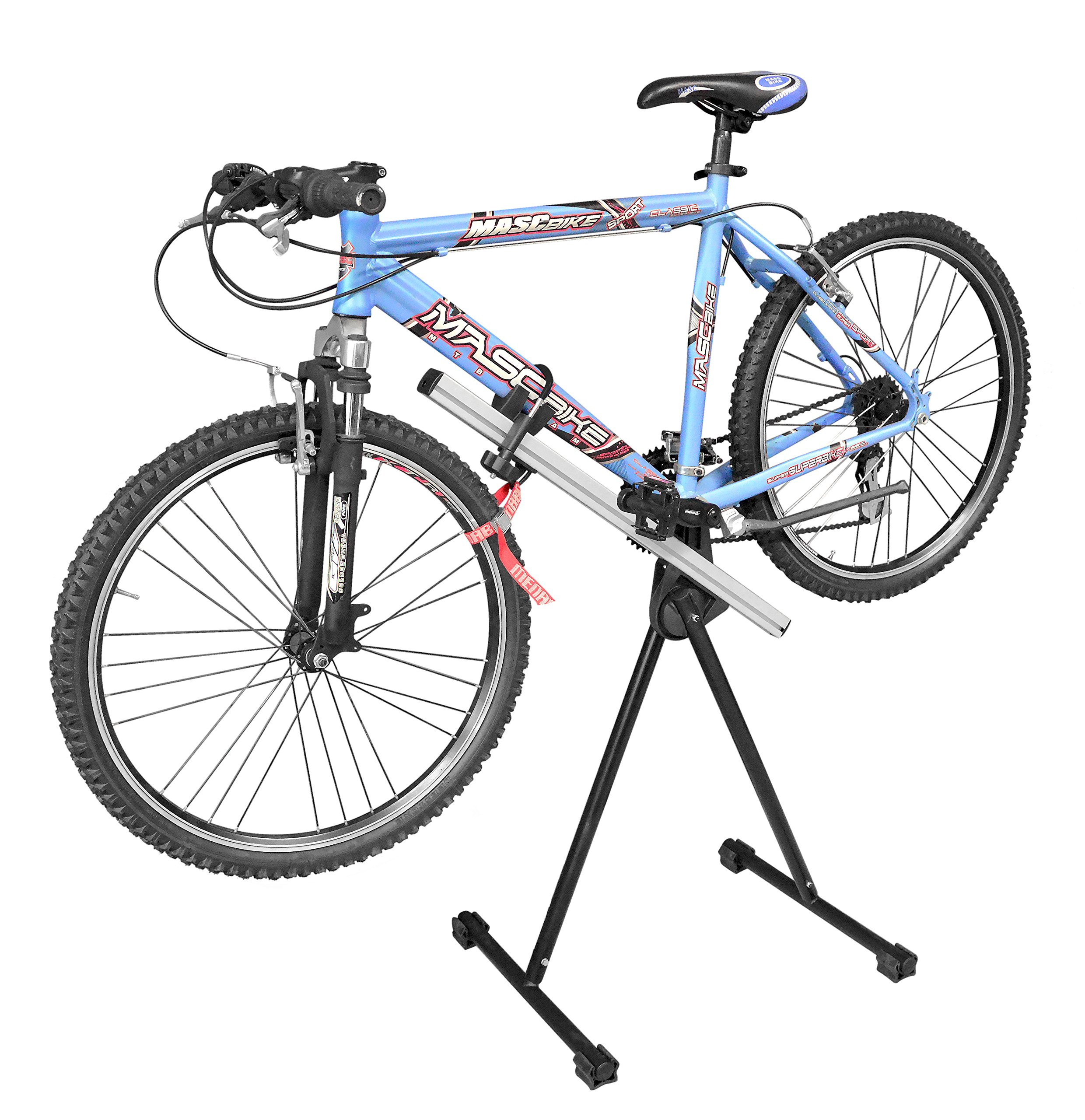 Menabo Bicycle Cleaning Workstand and Repair Stand - Foldable, Adjustable, Adapts to Standard and Mountain Bikes - Sturdy - Made in Italy to Strict European Standards