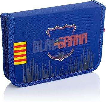 FC Barcelona 503019002 - Estuche portatodo sin Accesorios, 2 Compartimentos FC-235 Barcelona Barca Fan 7, 20 cm: Amazon.es: Equipaje