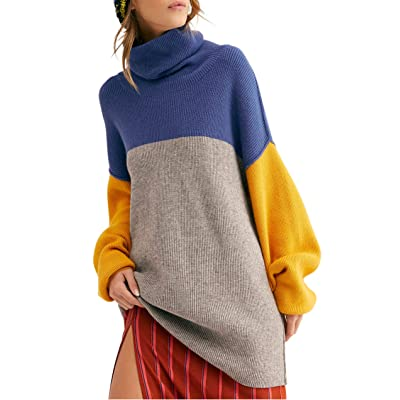 Free People Softly Structured Color Block Sweater at Women's Clothing store