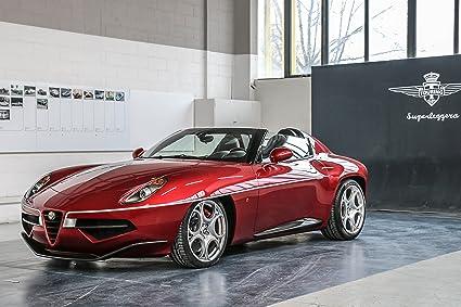 Alfa Romeo Disco Volante >> Amazon Com Alfa Romeo Disco Volante Spyder 2018 Car Print