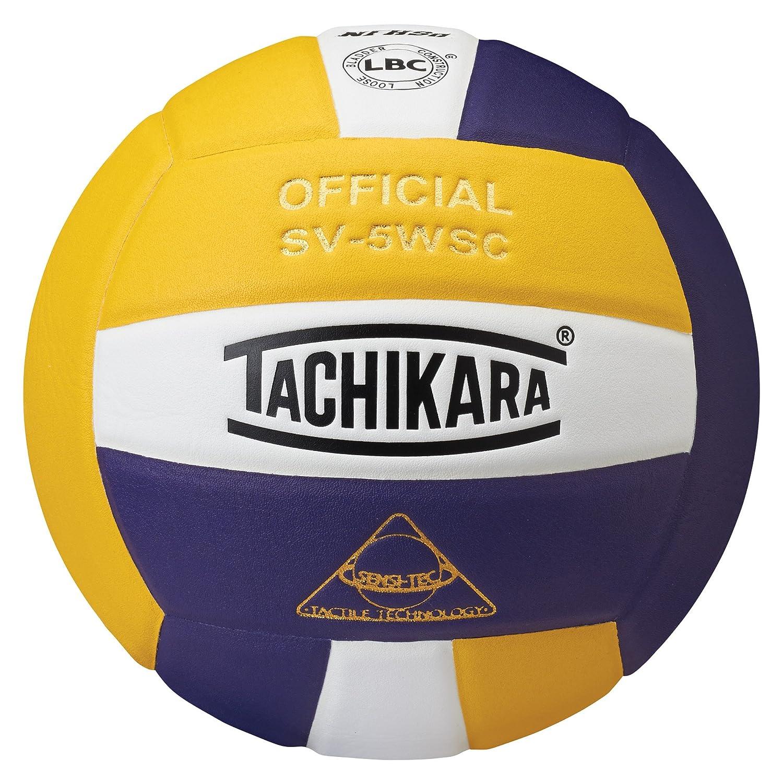 (Purple/White/Gold) - Tachikara SV5WSC.GWP Sensi-Tec Composite High Performance Volleyball - Gold-White-Purple B00099YJ40