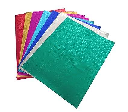 Fun + Learn Embossed Shining Color Paper, Metallic Finish Thin ...