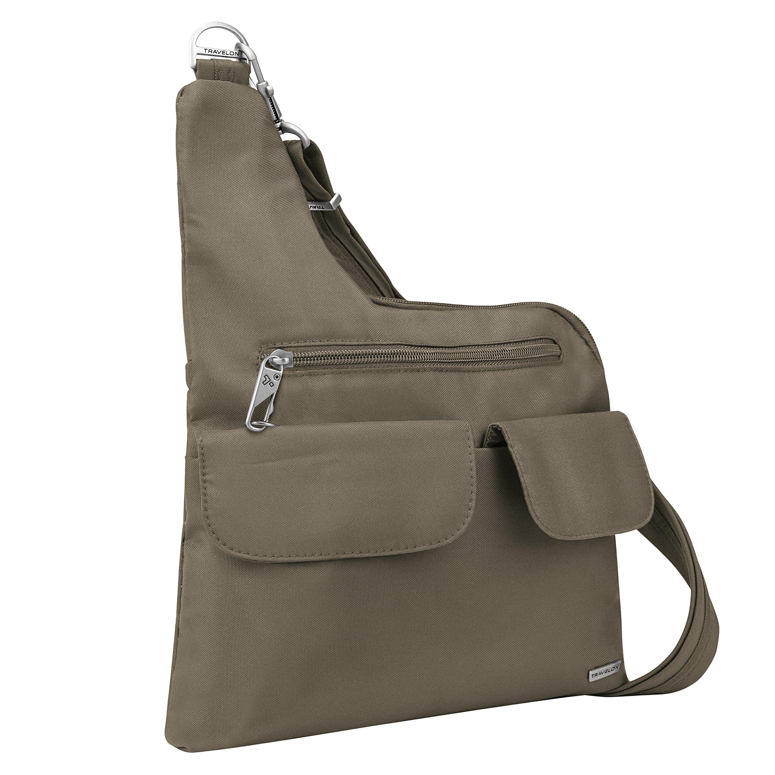Travelon Anti-theft Cross-body Bag, Nutmeg
