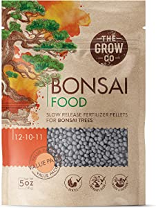 Bonsai Fertilizer - Gentle Slow Release Plant Food Pellets - Perfect for All Indoor and Outdoor Bonsai Tree Plants in Pots (5 oz)