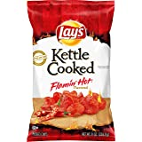 Lay's Kettle Cooked Potato Chips, Flamin' Hot, 8oz Bag