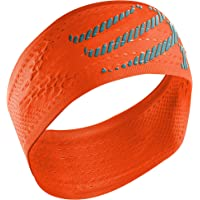 COMPRESSPORT Headband On/Off Cinta, Unisex, Naranja flúor, Talla