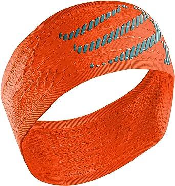 COMPRESSPORT Headband On/Off Cinta, Unisex, Naranja flúor, Talla ...