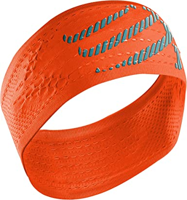 COMPRESSPORT Headband On/Off Cinta, Unisex, Naranja flúor, Talla ...