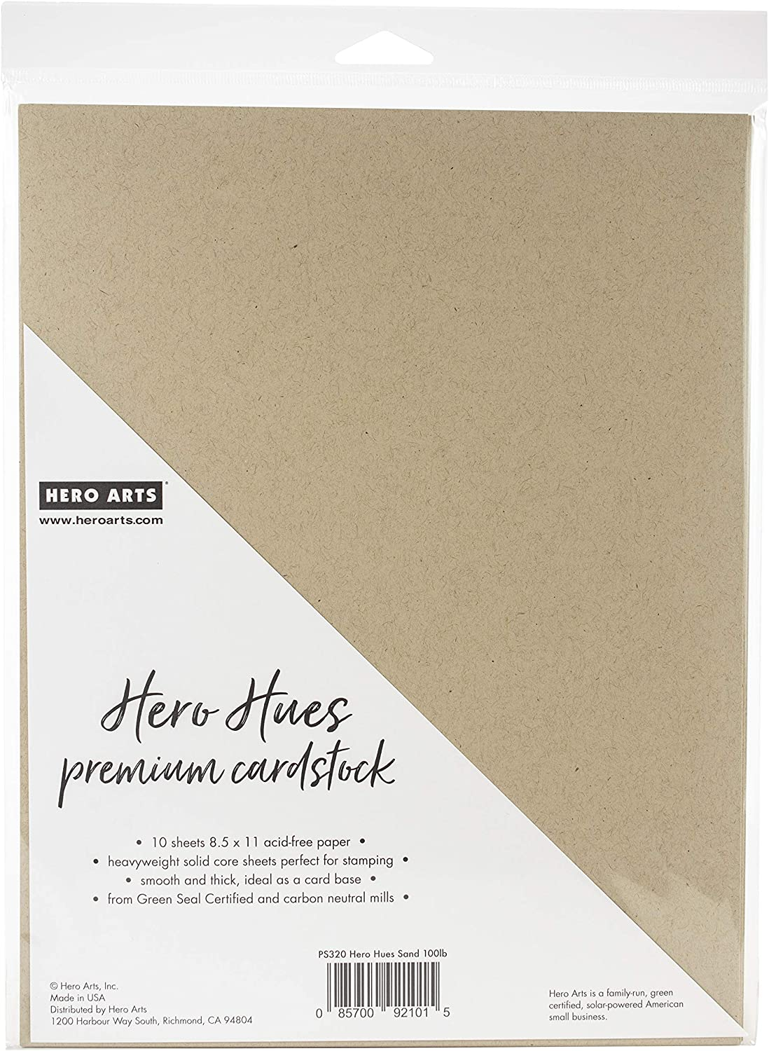 Hero Arts PS320 CARDSTOCK Sand us:one Size