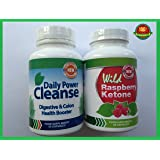 WILD RASPBERRY KETONE (60 CAPSULES) & DAILY POWER CLEANSE (60 CAPSULES) FREE FAST DELIVERY