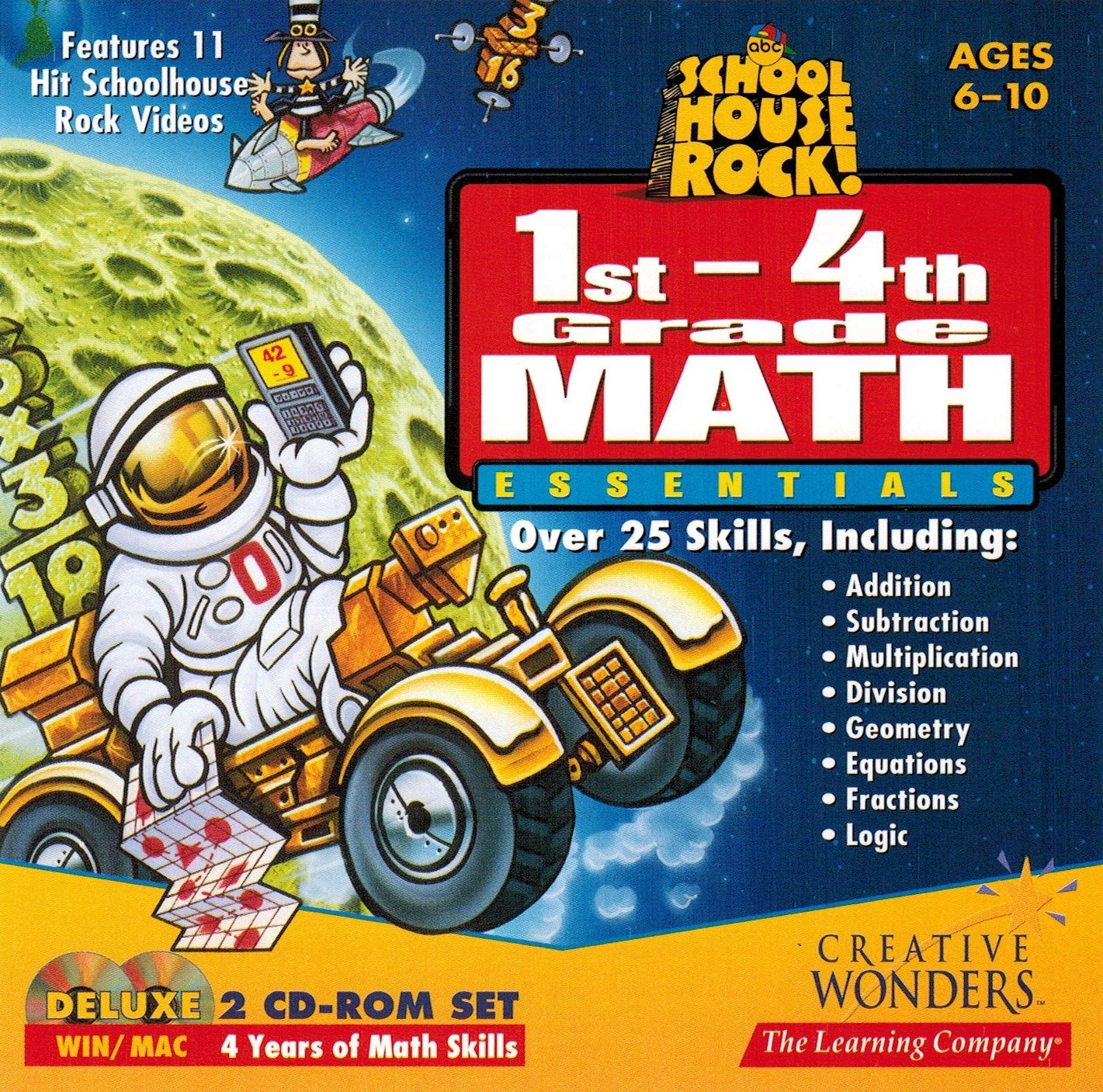 SCHOOL HOUSE ROCK! 1st-4th Grade Math Essentials (WINDOWS/MAC) by Learning Company