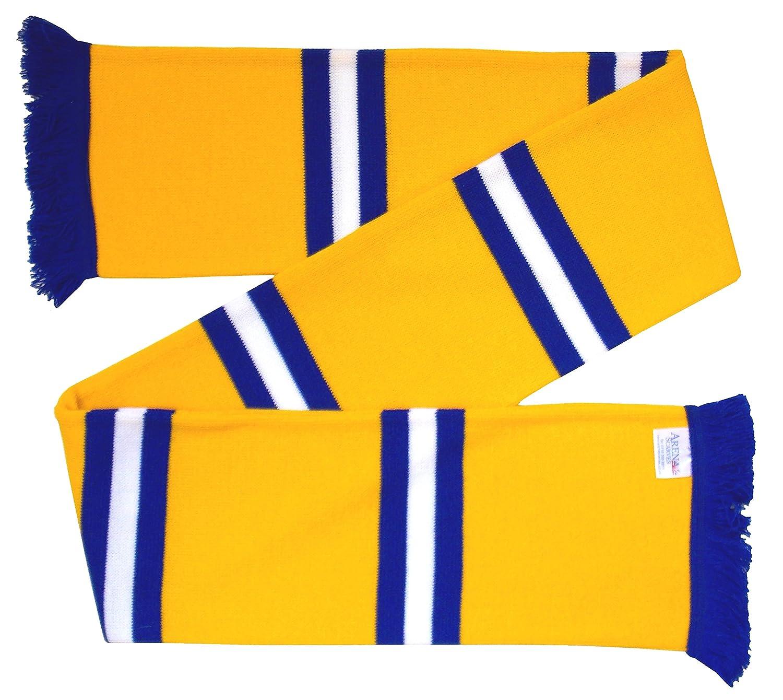Bufanda de Bar Retro Color Dorado Arena Leeds Azul y Blanco