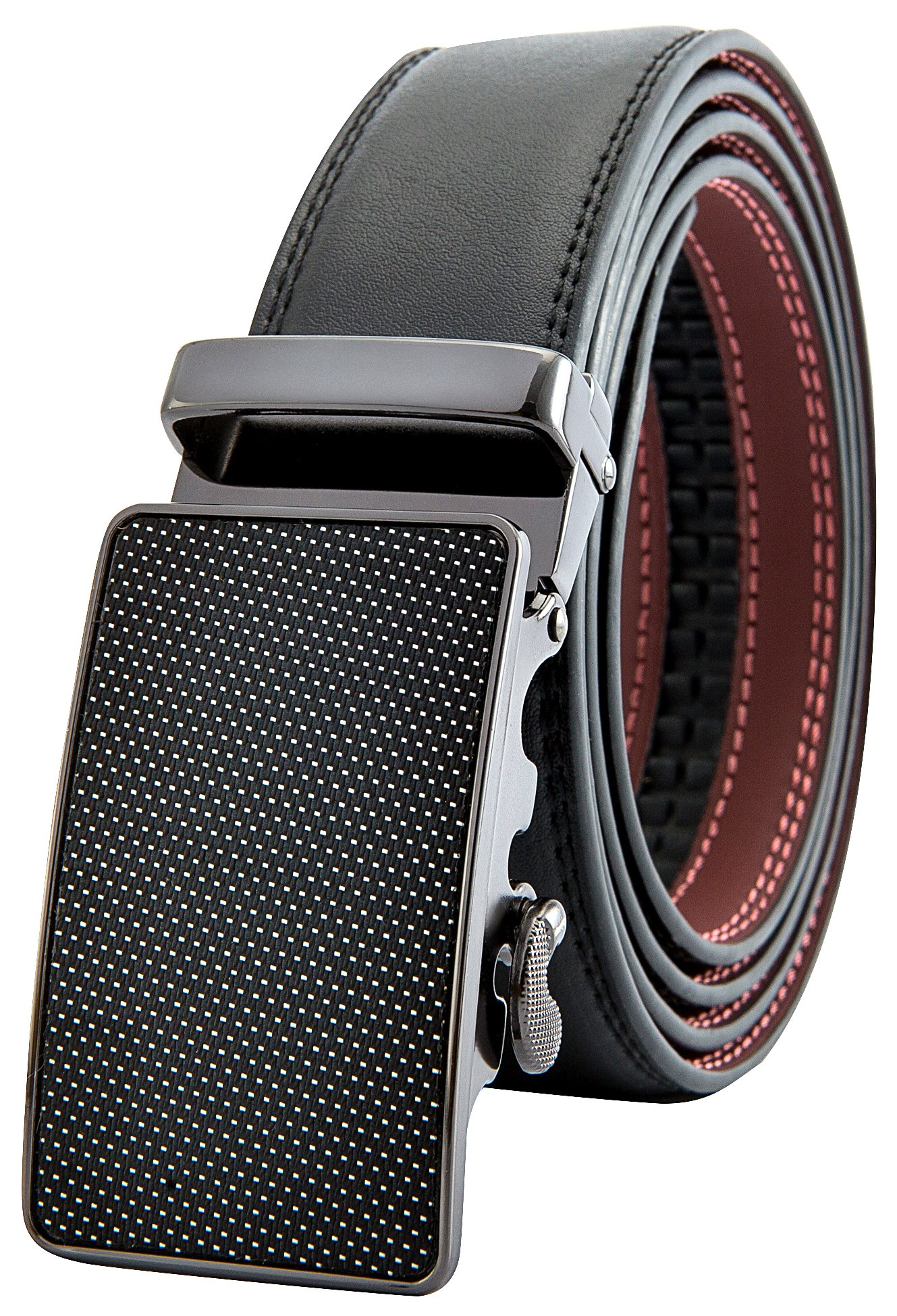Men's Black Ratchet Belt - Dotted Style - by J. Dapper