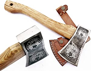DIST-AX-265, Custom Handmade Stainless Steel Axe-Gorgeous and Solid Wood Handle