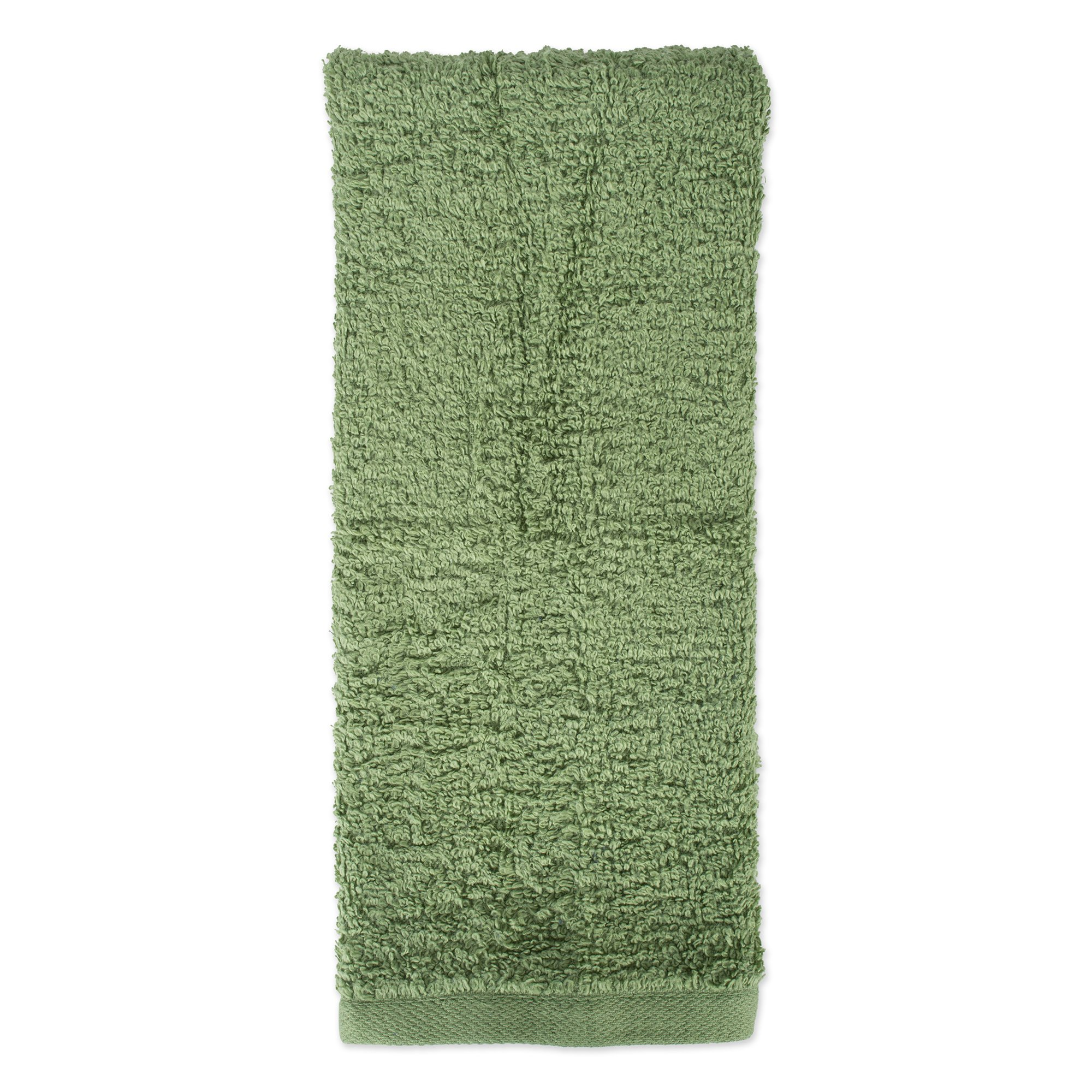 J&M Home Fashions Premium 72-Piece Bulk Pack Cotton Hand Towel Set, 16x27, Hotel & Spa Quality, Super Soft and Ultra Absorbent for Commercial Business-Thyme Green