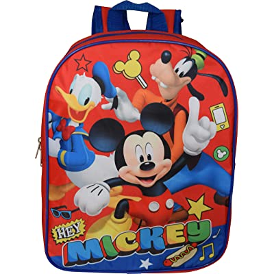 "Mickey Mouse 15"" Backpack (Red-Blue) 