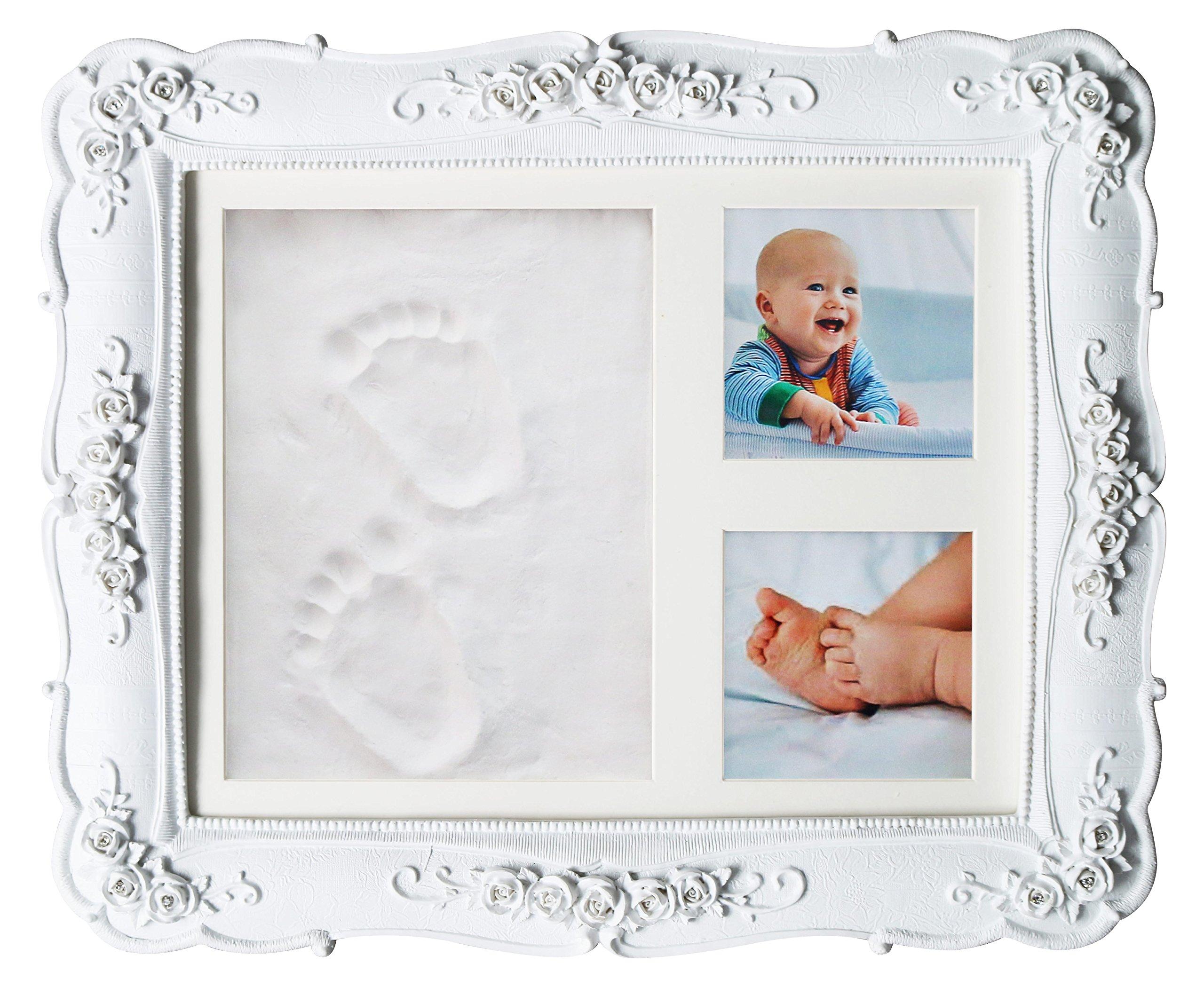 Unique Baby Shower Handprint Footprint Clay kit Frame for Newborns ...