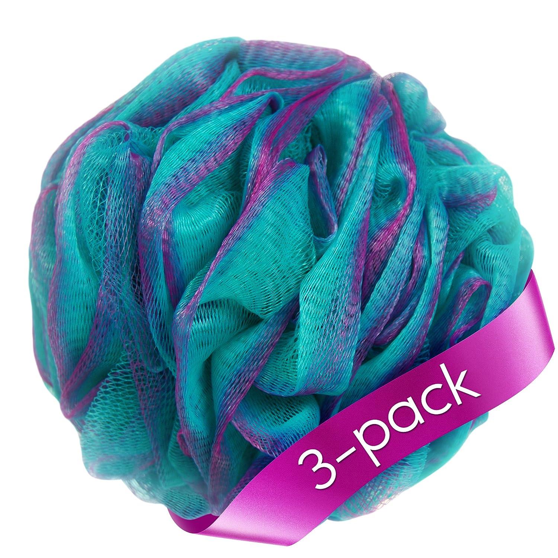 Amazon.com : Loofah Bath Sponge Set of 3 different colors (70 gram ...