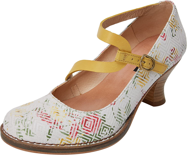 Neosens S606 Fantasy Geo White/Rococo, Zapatos de tacón con Punta Cerrada para Mujer