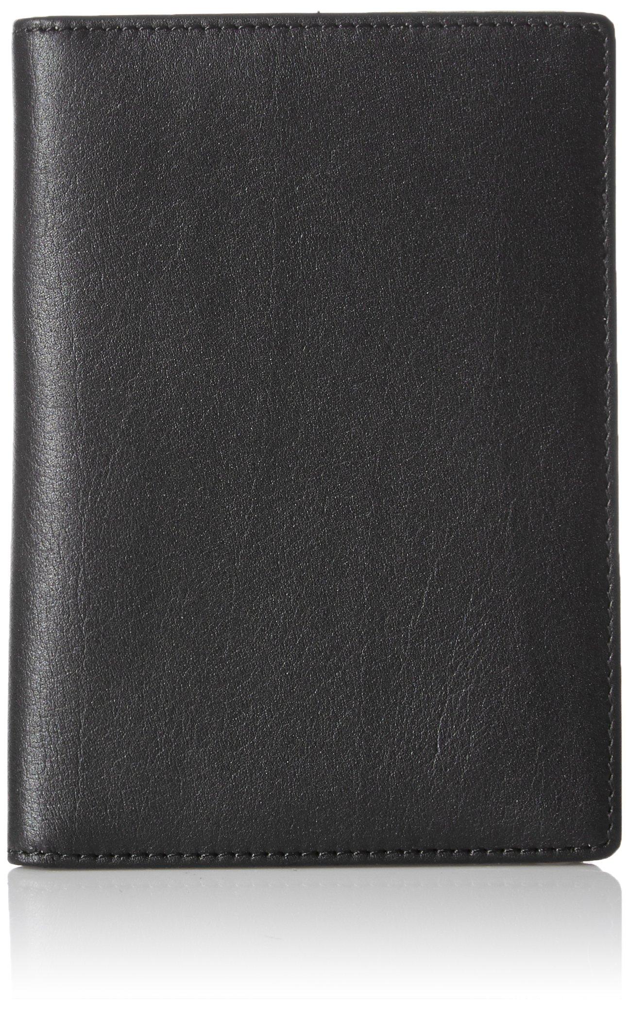 AmazonBasics Leather RFID Blocking Passport Holder Wallet - 6 x 4 Inches, Black by AmazonBasics