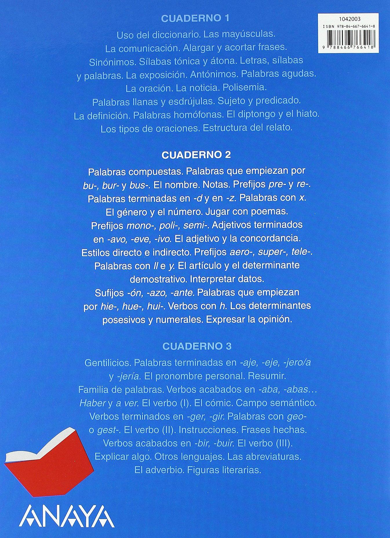 Lengua 4. Cuaderno 2.: María Isabel Fuentes Zaragoza: 9788466766418: Amazon.com: Books