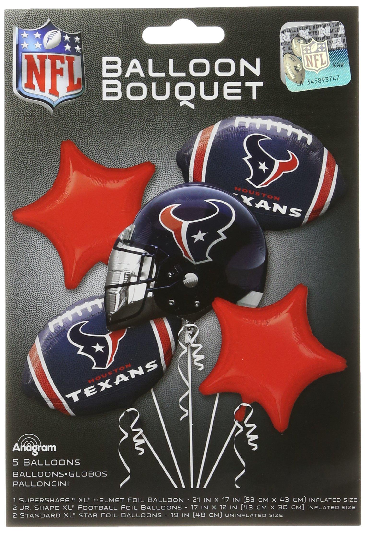 Anagram Bouquet Texans Foil Balloons, Multicolor