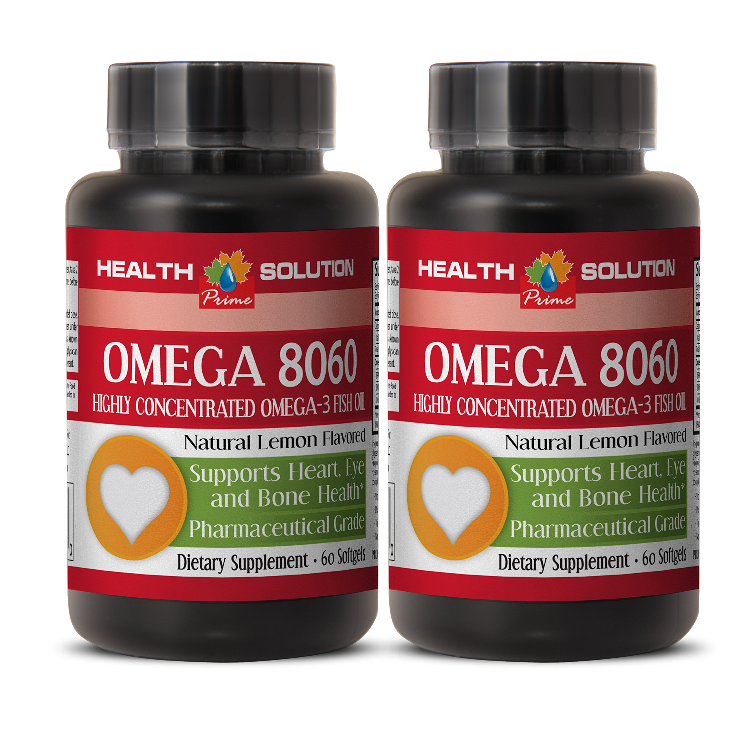 Immune support in dogs - OMEGA 8060 (HIGHLY CONCENTRATED FISH OIL) - Omega 3 eyes - 2 Bottle 120 Softgels