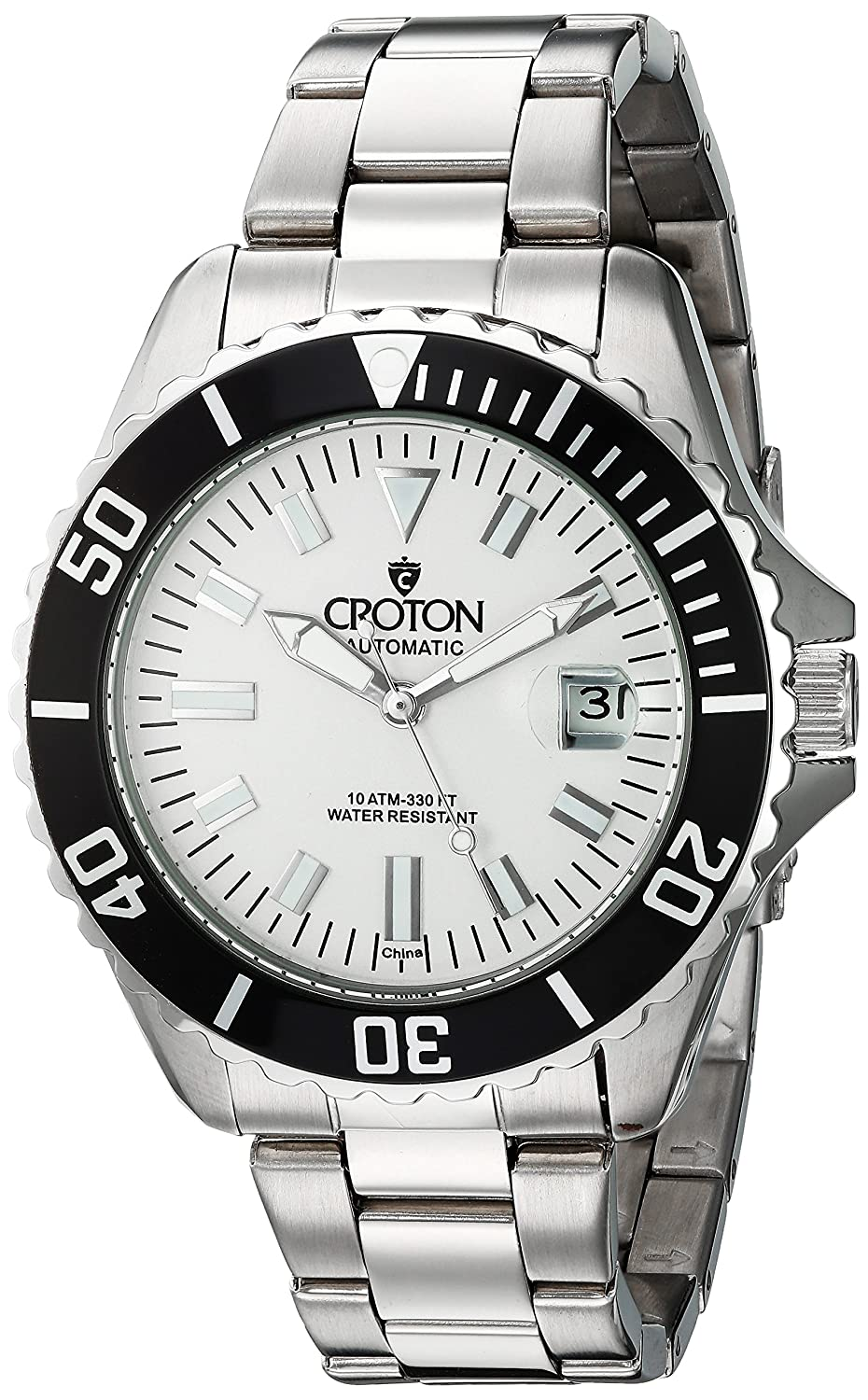 Croton Men 's ' Winder 'ステンレススチールAutomatic Watch , Color : silver-toned (モデル: ca301294slwd ) B01LYI4Z20