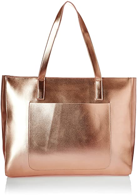 00f095374 Kanvas Katha Metallic Pu Faux Leather Fatty Women's Tote Bag (Rose Gold)