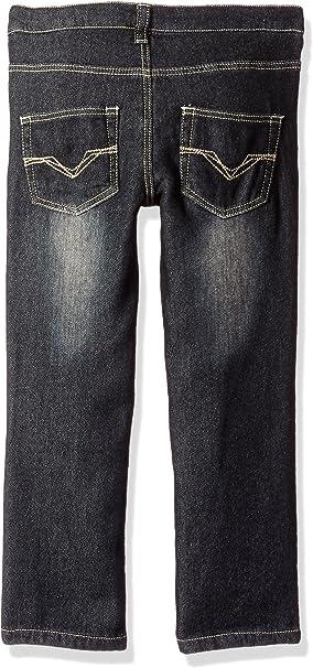 Dark Denim Wash GUESS Little Boys 5 Pocket Knit Stretch Jeans 6X//7