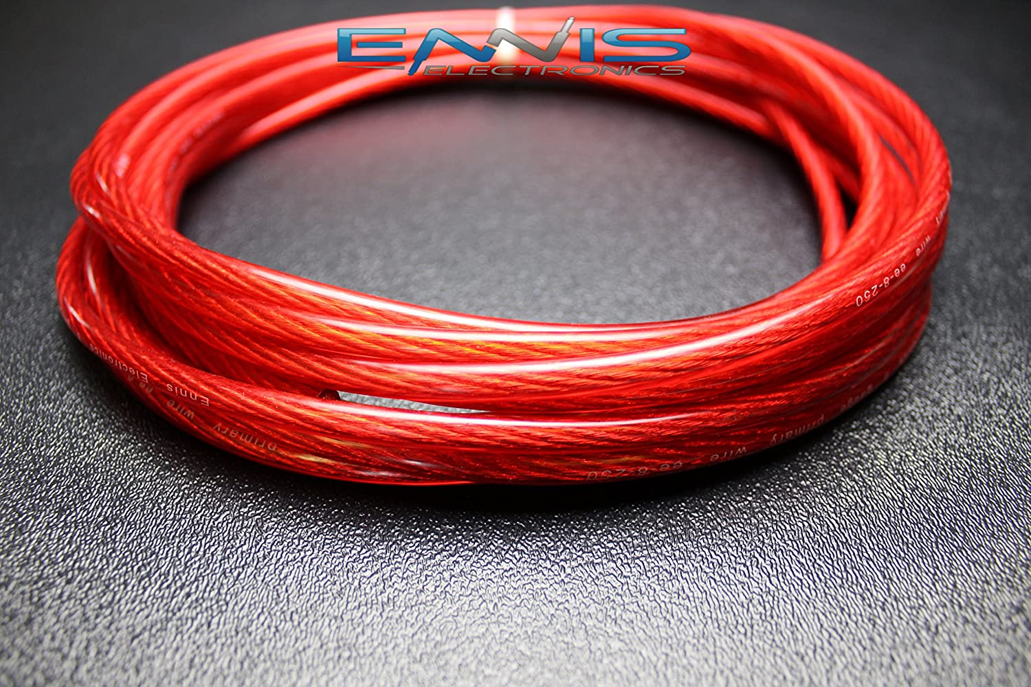 8 GAUGE WIRE 25 FT TOTAL 12.5FT BLACK 12.5FT RED AWG CABLE BY ENNIS ELECTRONICS POWER GROUND STRANDED CAR SOLAR AUTOMOTIVE LYSB06WVWGSXF-ELECTRNCS