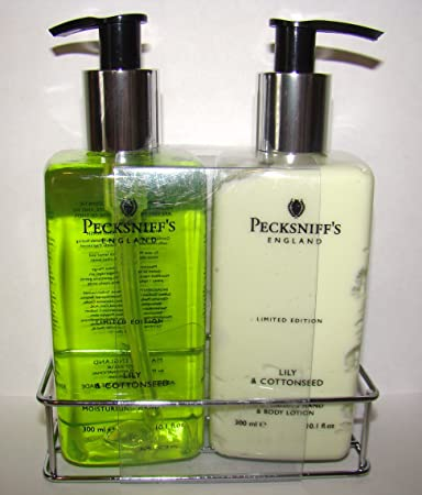 Pecksniffs Lily Cottonseed Hand Wash and Body Lotion Set