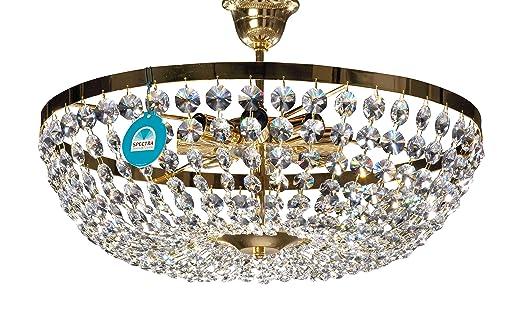 Lustre Plafonnier Avec Spectra Cristal De Swarovski ø50cm 8