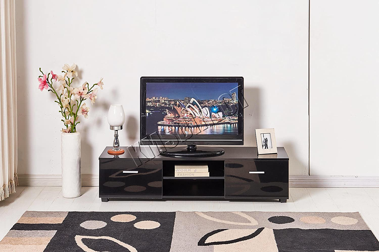 Westwood Modern Tv Unit Stand High Gloss Cabinet Amazon Co Uk