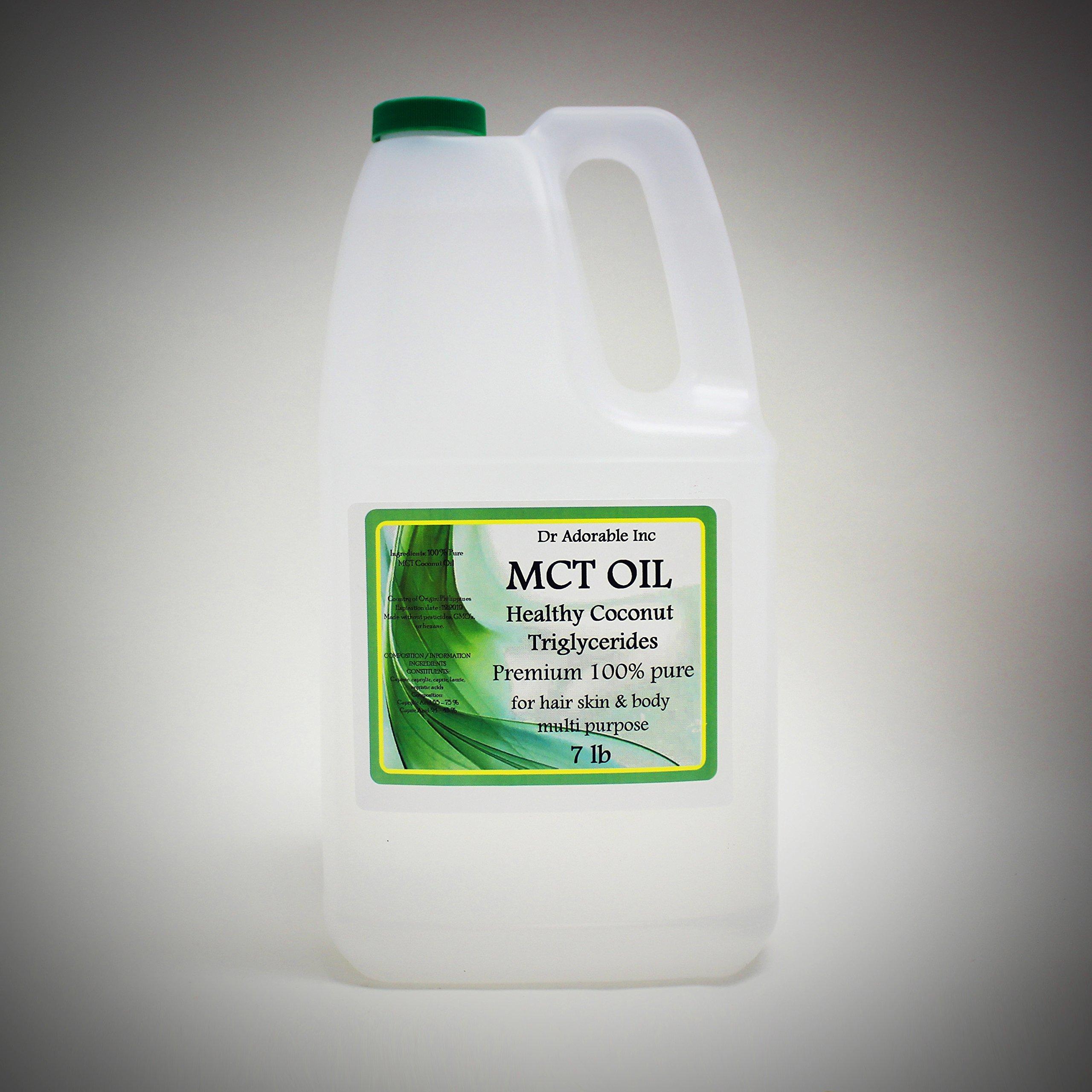 7 Lb Premium MCT Oil derived from Organic Coconut Oil Pure Medium-Chain Triglyceride Gallon
