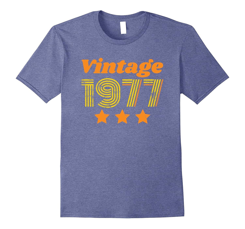 Vintage 1977 T-shirt - 40th Birthday Ideas Distressed Retro-BN