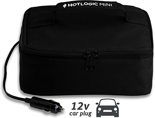 Amazon Com Hot Logic Food Warming Tote 12v Lunch Black Kitchen Dining