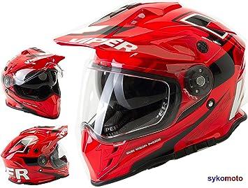 Viper Moto RX-V288 MOTO CASCO MOTOCROSS ENDURO ECE HOMOLOGADO INTEGRAL PARA MUJER HOMBRE ADULTOS