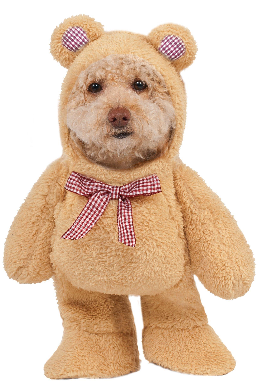 Walking Teddy Bear Dog Costume Large