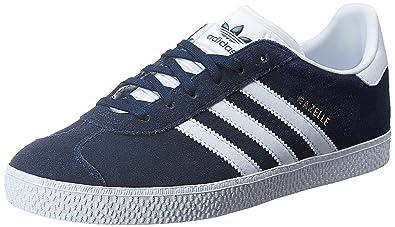 adidas Gazelle J, Chaussures de Gymnastique Mixte Enfant, Bleu (Conavy ftwwht),